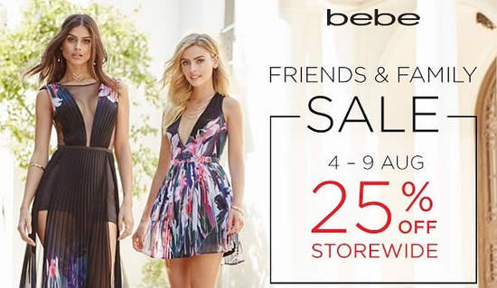 bebe 25 Off Feat 5 Aug 2016
