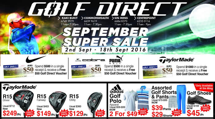 Golf Direct Feat 2 Sep 2016