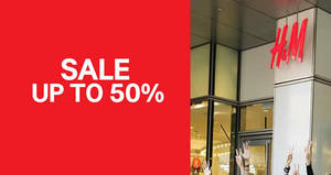 H&M's GSS sale is now on! Save up to 50% off on selected ladies, mens & kids items from 26 May 2017