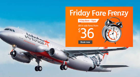Jetstar Fares fr 9 Sep 2016