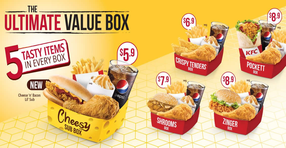 KFC New Ultimate Value Boxes Priced fr 590 from 7 Sep 2016 : KFC New Ultimate Feat 7 Sep 2016 from singpromos.com size 1158 x 600 jpeg 133kB