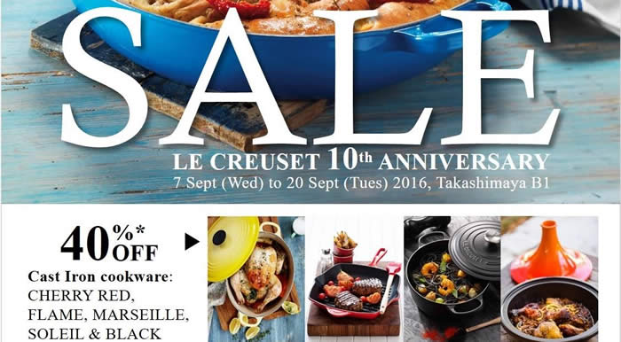 Le Creuset 10th Feat 7 Sep 2016