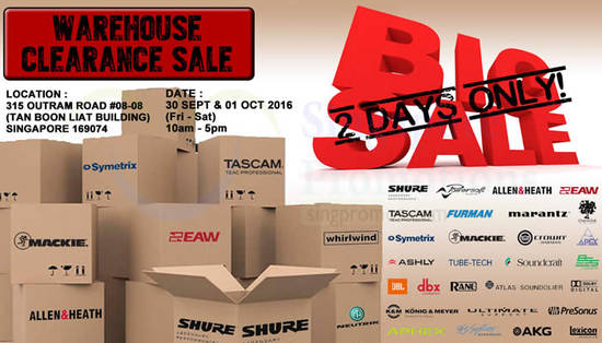Pro Audio Sale Feat 22 Sep 2016
