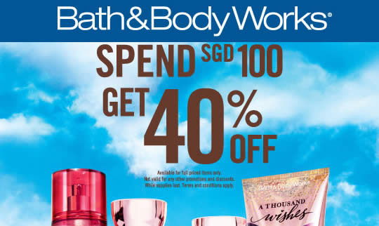 Bath Body Works Feat 14 Oct 2016