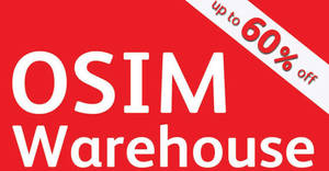 OSIM: Up to 60% off warehouse sale from 25 – 27 Aug 2017