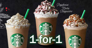 Starbucks 1-for-1 Christmas beverages for cardholders at all outlets on 7 Dec 2016