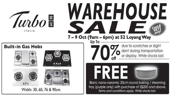 Turbo Warehouse Sale Feat 5 Oct 2016