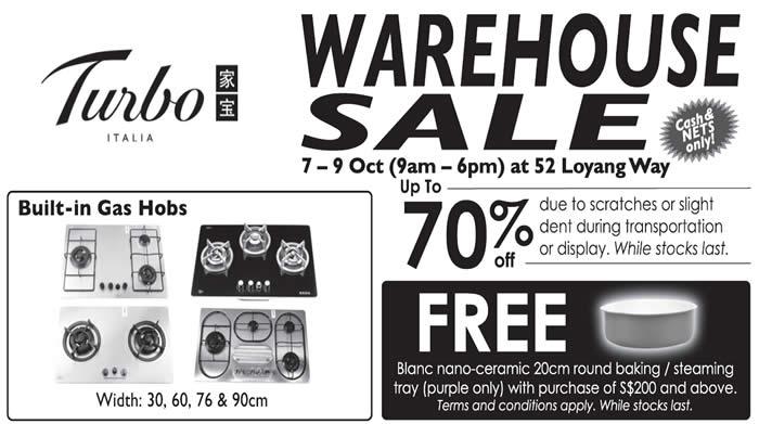 Turbo Warehouse Sale Feat 5 Oct 2016
