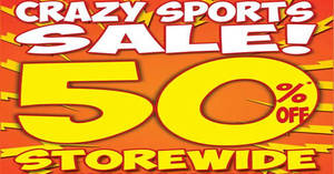 World of Sports is throwing 50% off STOREWIDE at six outlets from 19 May 2017