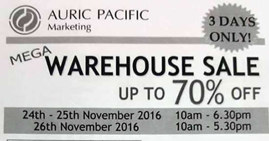 Auric Pacific Feat 25 Nov 2016
