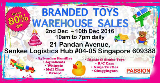 Branded Toys Warehouse 16 Nov 2016