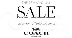 coach outlet 50 off 9mb2  Coach semi-annual sale offers up to 50% off selected styles from 18 Nov   14 Dec 2016