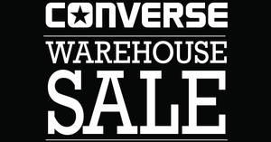 Converse warehouse sale returns featuring prices starting fr $5 onwards from 30 Nov – 4 Dec 2016
