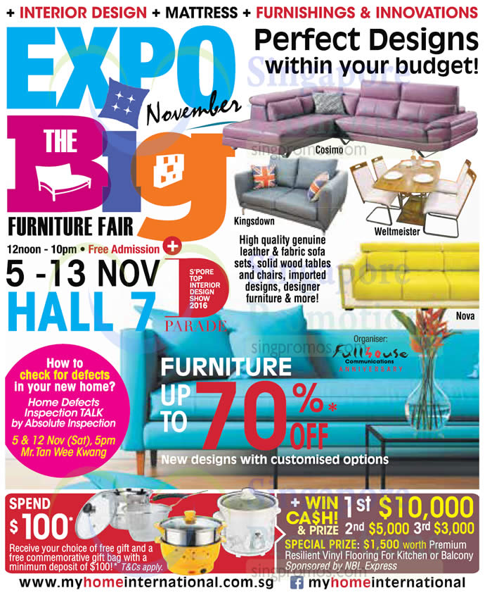 Expo Big Furniture Fair At Singapore Expo From 5 13 Nov 2016