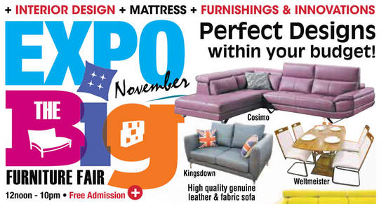 Expo BIG Furniture Feat 4 Nov 2016