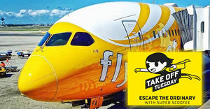 Fly fr $45 all-in to 22 destinations with Scoot's 2hr Take Off Tuesday promo (7am to 9am) on 6 Dec 2016