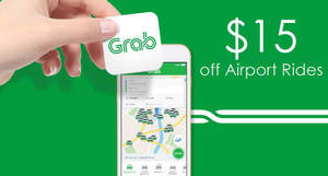 Get $15 off GrabCar rides to/fro Changi Airport with this promo code for UOB cardholders from 7 Dec 2016
