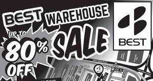 BEST Denki warehouse sale returns with discounts of up to 80% off from 7 – 13 Dec 2016