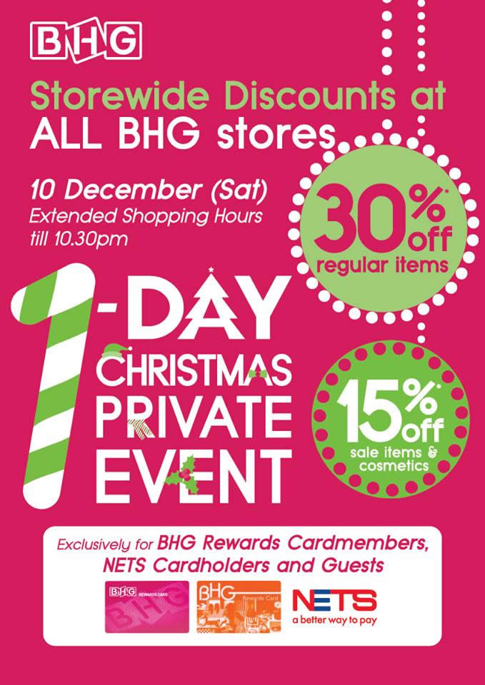 Bhg offers 30 off regular priced items one day promo with for Bhg shopping