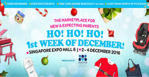 Baby Baby 2016 fair offers bottles trade-in, crazy buys, activities & more at Singapore Expo from 2 – 4 Dec 2016