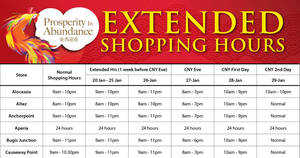 Cold Storage Chinese New Year extended shopping hours from 20 – 29 Jan 2017
