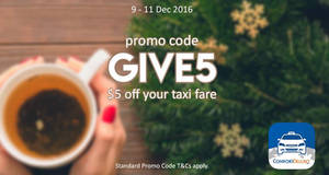 Comfort Delgro releases new $5 off taxi ride promo code valid from 9 – 11 Dec 2016
