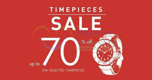 Crystal Time's sale offers up to 70% off timepieces from 8 – 11 Dec 2016