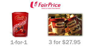 Fairprice offers Haagen-Dazs at 3-for-$27.95, 1-for-1 LINDT Lindor Cornet & more from 8 – 14 Dec 2016