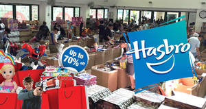 Hasbro toys & games warehouse sale returns with discounts of up to 70% off from 10 – 11 Dec 2016