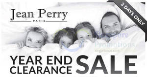 Jean Perry year end clearance sale at Singapore Expo from 2 – 4 Dec 2016
