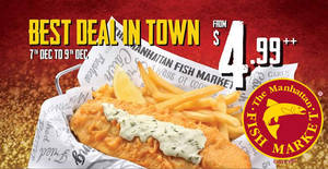 Manhattan FISH MARKET to offer $4.99 Fish 'n Chips & more for 3-days only from 7 – 9 Dec 2016