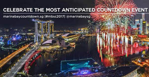 Marina Bay Countdown 2017 at Marina Bay on 31 Dec 2016