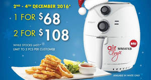 Mayer 2.6L Air Fryer (MMAF68) going at $69 only from 2 – 4 Dec 2016