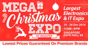 Megatex Electronics & I.T Expo Show at Singapore Expo from 16 – 26 Dec 2016