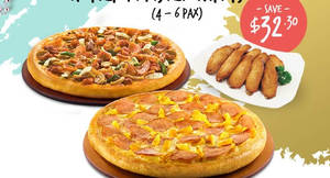 Pizza Hut offers $33 for two large pizzas with free 10pcs honey roasting wings from 10 – 14 Dec 2016