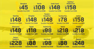 Scoot's 72hr sale offers fares fr $45 all-in to over 15 destinations from 4 – 6 Dec 2016