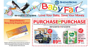 Sheng Siong baby fair offers valid from 9 – 31 Dec 2016