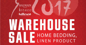 Balmain & Intero CNY warehouse sale from 16 – 22 Jan 2017