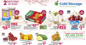Cold Storage 2-days offers: New Moon New Zealand Abalone, Japanese Hokkaido Scallop & more from 25 – 26 Jan 2017