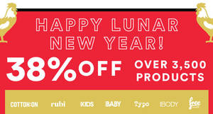 Cotton On slashes 38% off over 3,500 full-priced items online from 25 – 28 Jan 2017