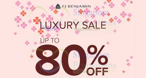 FJ Benjamin Luxury Sale offers up to 80% off European luxury leather goods & timepieces on 19 Jan 2017