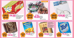 FairPrice one-day deals: Yeo's Asian Tetra Pack drinks, Golden Chef Razor Clams, Magnum Mini & more on 15 Jan 2017