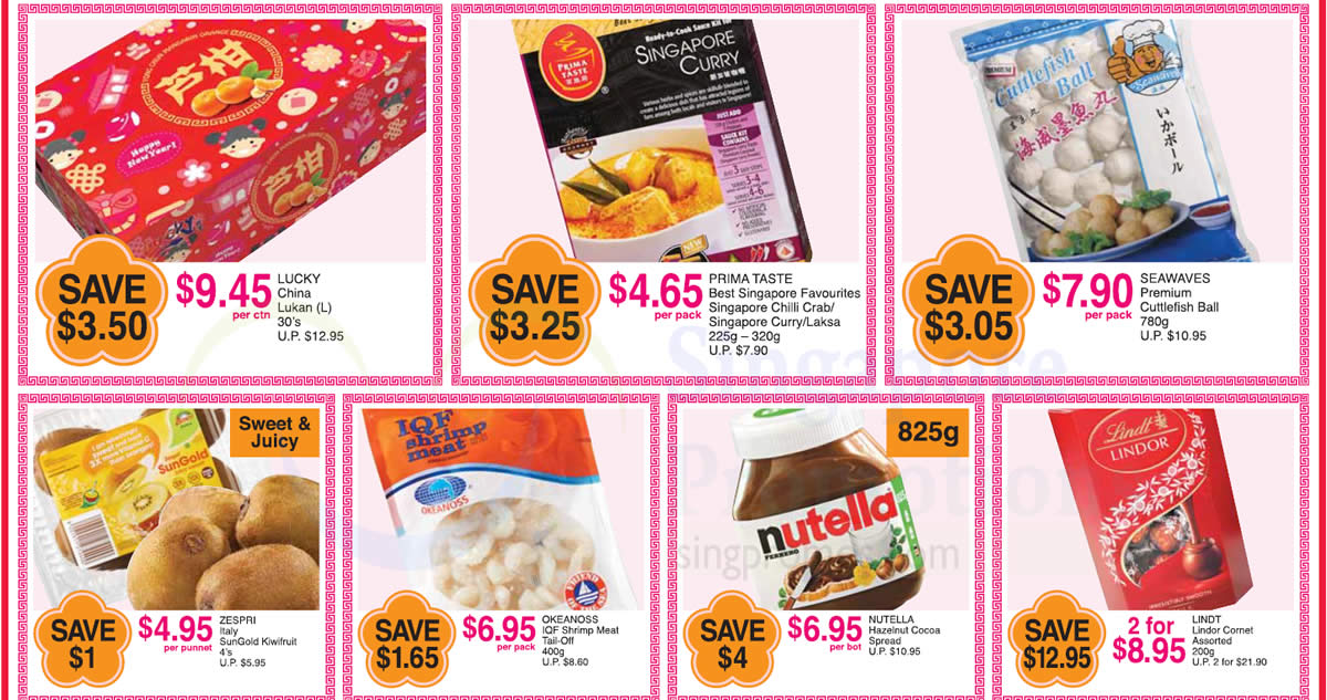 FairPrice one-day deals: Lindt Lindor Comet, Lucky China Lukan, Seawaves Premium Cuttlefish Ball & more on 25 Jan 2017