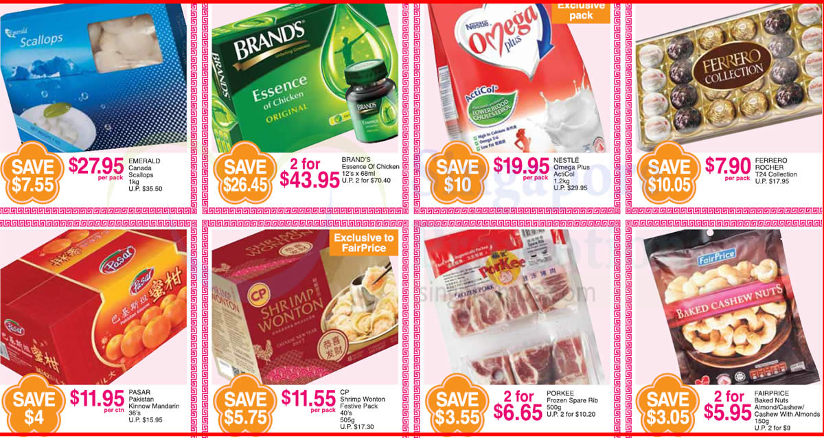 FairPrice one-day deals: Emerald Canada Scallops, Ferrero Rocher Collection, CP Shrimp Wonton & more on 24 Jan 2017