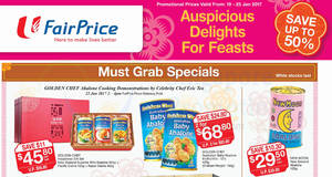 Golden Chef & New Moon abalone up to 50% off offers at Fairprice from 19 – 25 Jan 2017
