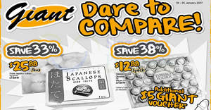Giant latest Dare-to-Compare features Ferrero Rocher & more from 19 – 25 Jan 2017