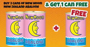 Giant: Buy-2-Get-1-Free New Moon New Zealand Abalone with UOB cards from 20 – 26 Jan 2017