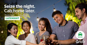 Save $10 off midnight GrabTaxi rides for all users with this promo code valid from 10 – 27 Jan 2017
