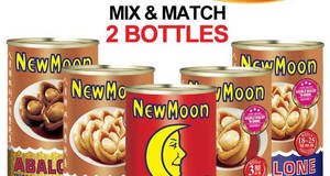 New Moon is offering $50 for two cans of South Africa & Australia abalone mix-and-match from 21 Jan 2017