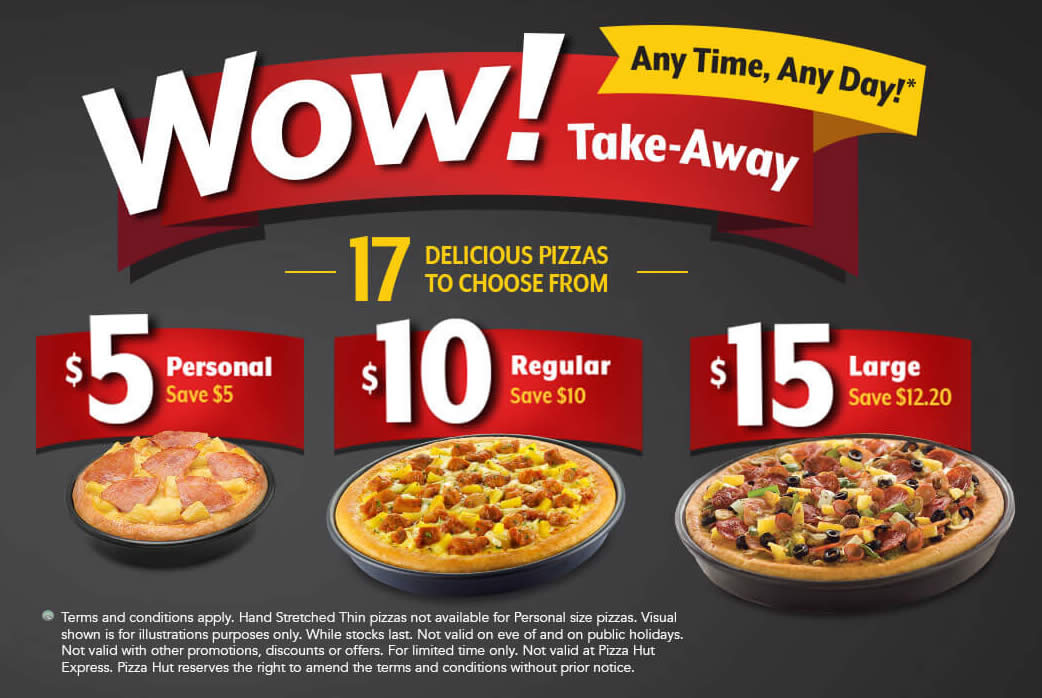 Pizza Hut Takeaway Amp Save 50 Off Personal Regular